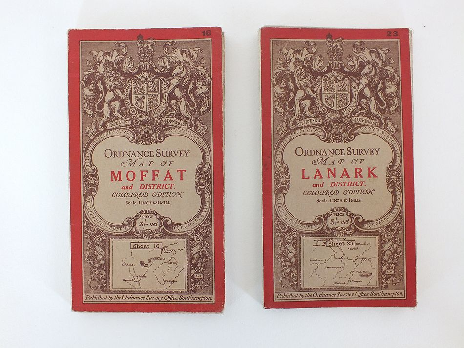 Ordnance Survey of Scotland Maps, Moffat, Lanark, Early 1900s, Set Of 2