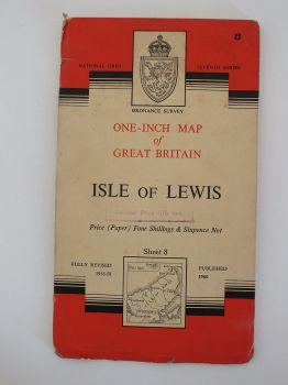 Isle Of Lewis, Ordnance Survey Maps Of Great Britain, Sheet No 8