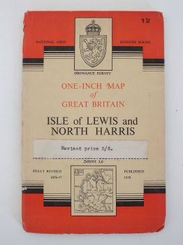 Isle Of Lewis And North Harris, Ordnance Survey Maps Of Great Britain, Sheet No 12