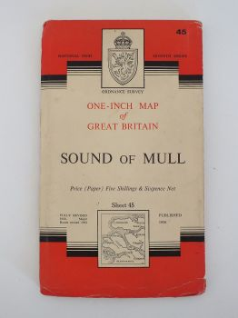 Sound Of Mull, Ordnance Survey Maps Of Great Britain, Sheet No 45