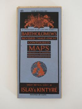 Islay & Kintyre, Bartholomews Revised Contoured Map Sheet No 43