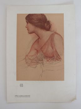 From A Study In Sanguine by J W Waterhouse R A