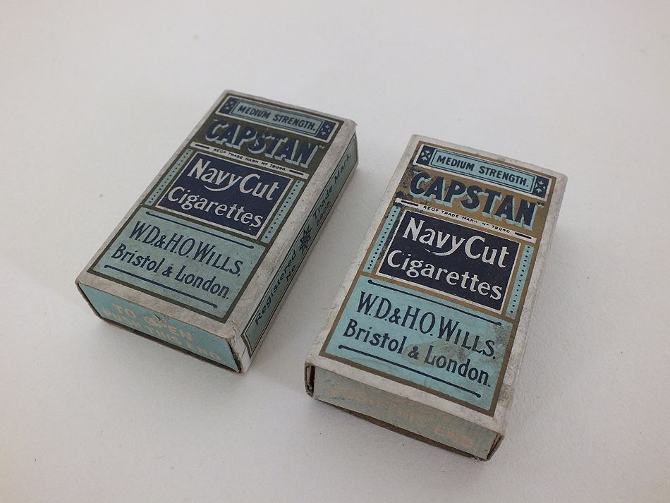 WD & HO Wills Capstan Navy Cut Cigarettes Packets