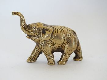 Miniature Solid Brass Elephant Figure