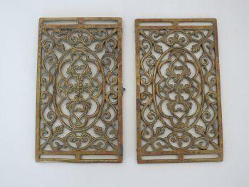 Antique Pierced Brass Panels