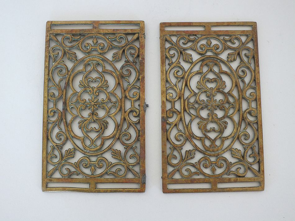 Antique Pierced Brass Panels