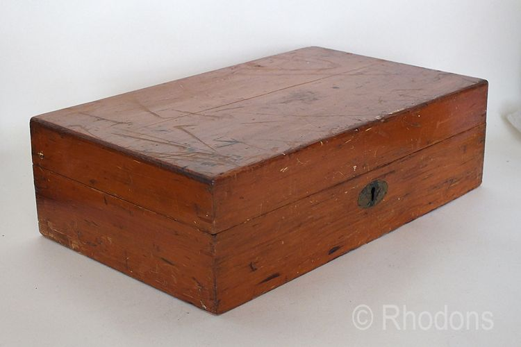 Vintage Pine Work Box, Sewing Box