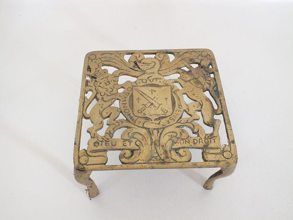Heraldic Brass Trivet - 5.25