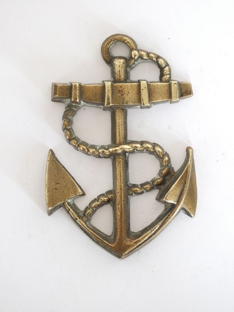 Brass Anchor & Rope Wall Décor, Paperweight