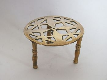 Miniature Brass Table, Trivet, Doll House Decor