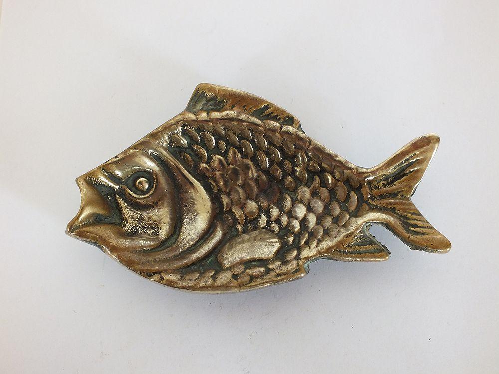 Brass Fish Dish For Trinkets, Keys, Rings