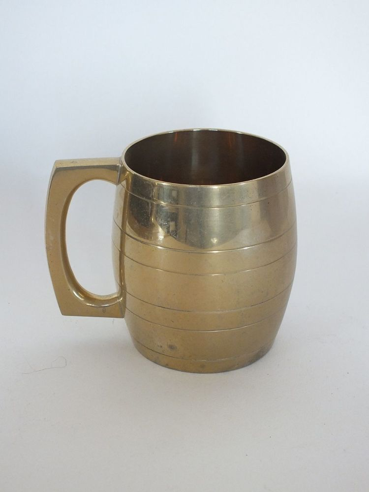 Brass Tankard Unusual Barrel Shape