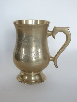 Engraved Brass BeerTankard