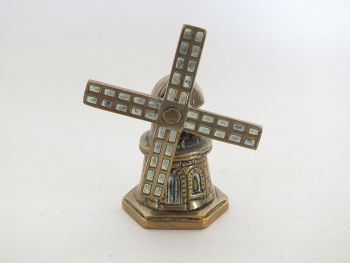 Miniature Brass Windmill Tea Bell, Paperweight