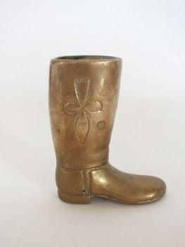 Brass Boot Spill Holder, Toothpick Holder, Paperweight