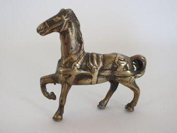 Vintage Cast Brass Horse Figurine