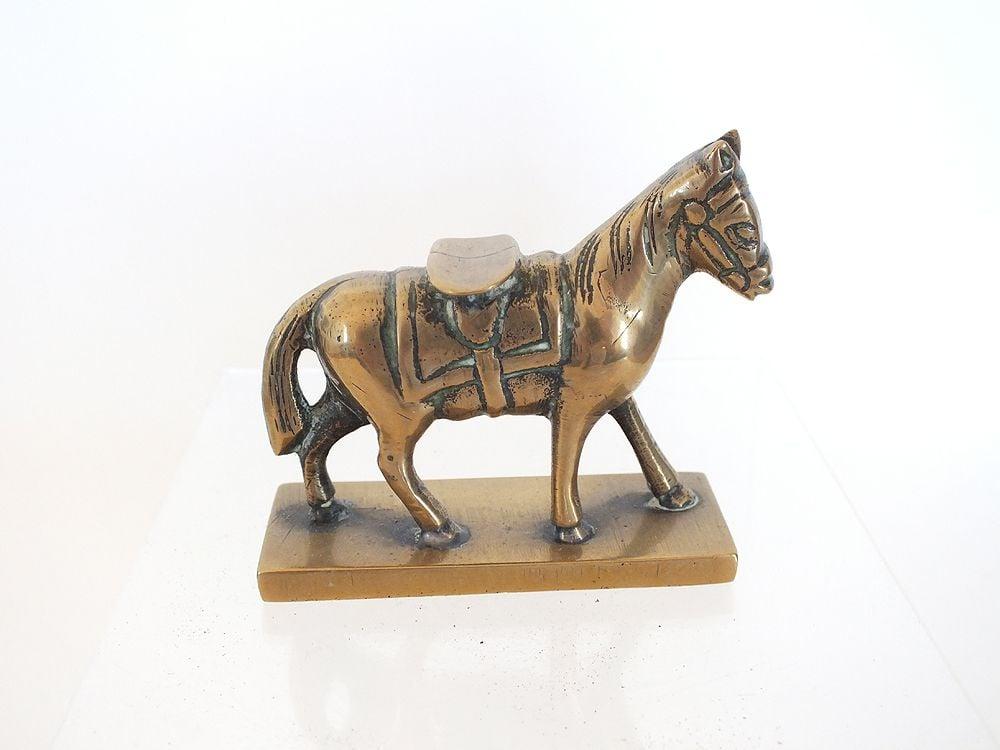 Cast Brass Horse Desktop Paperweight