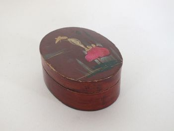 Lacquered Papier Mache Trinket Box