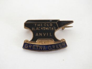 Gretna Green Blacksmiths Anvil Enamel Pin Badge