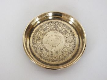 Brass Compass Dish, For Trinkets, Coins, Keys