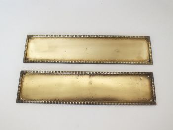 Vintage Brass Door Push, Finger Plates