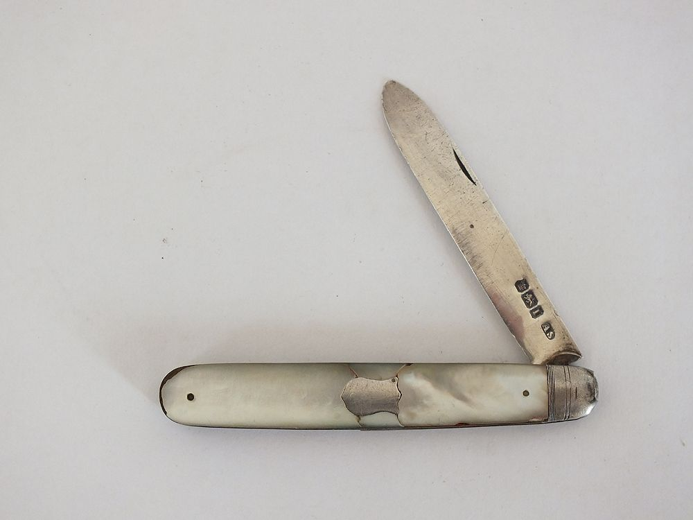 Silver Blade Fruit Knife Staniforth, Sheffield 1903 For Restoration