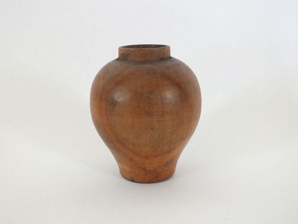 Miniature Turned Wood Pot / Water Jar