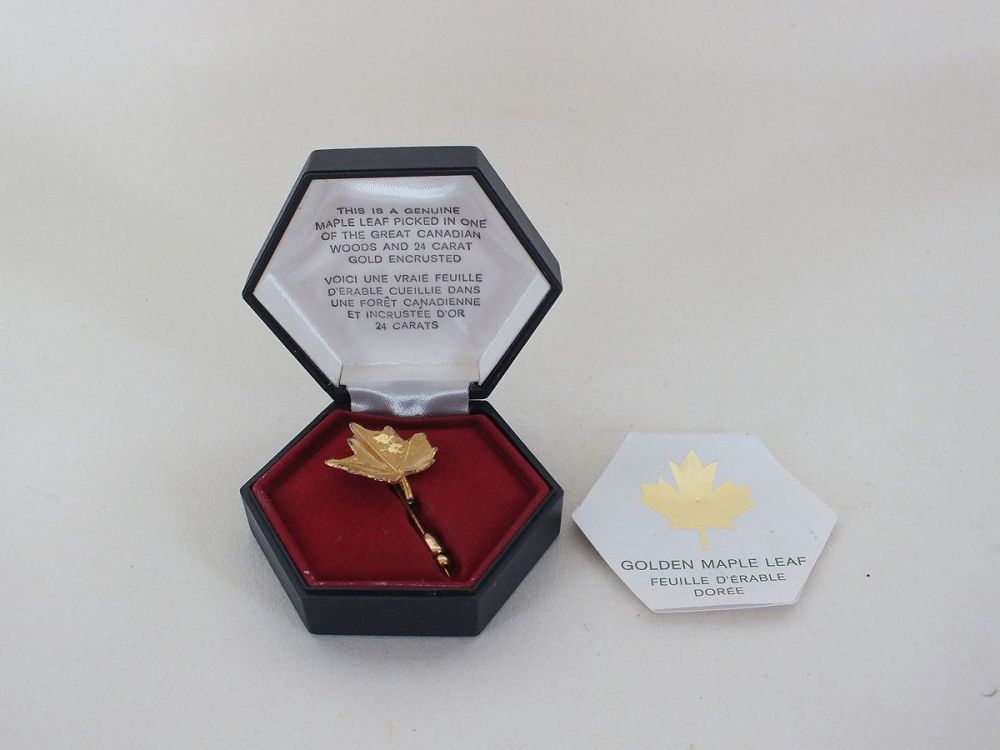 Air Canada Maple Leaf Lapel Pin, Stick Pin, Gold Plated