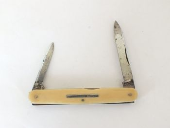 Bone Handled Two Blade Pocket Penknife J Ireland, Brighton