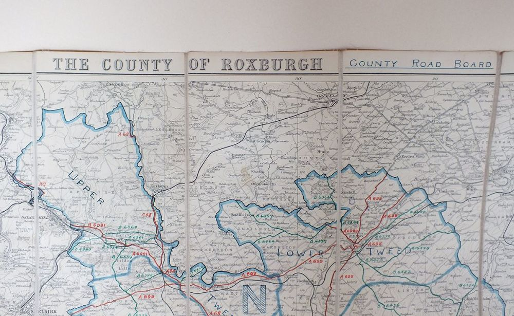County Of Roxburgh, County Road Map, Early 1900s
