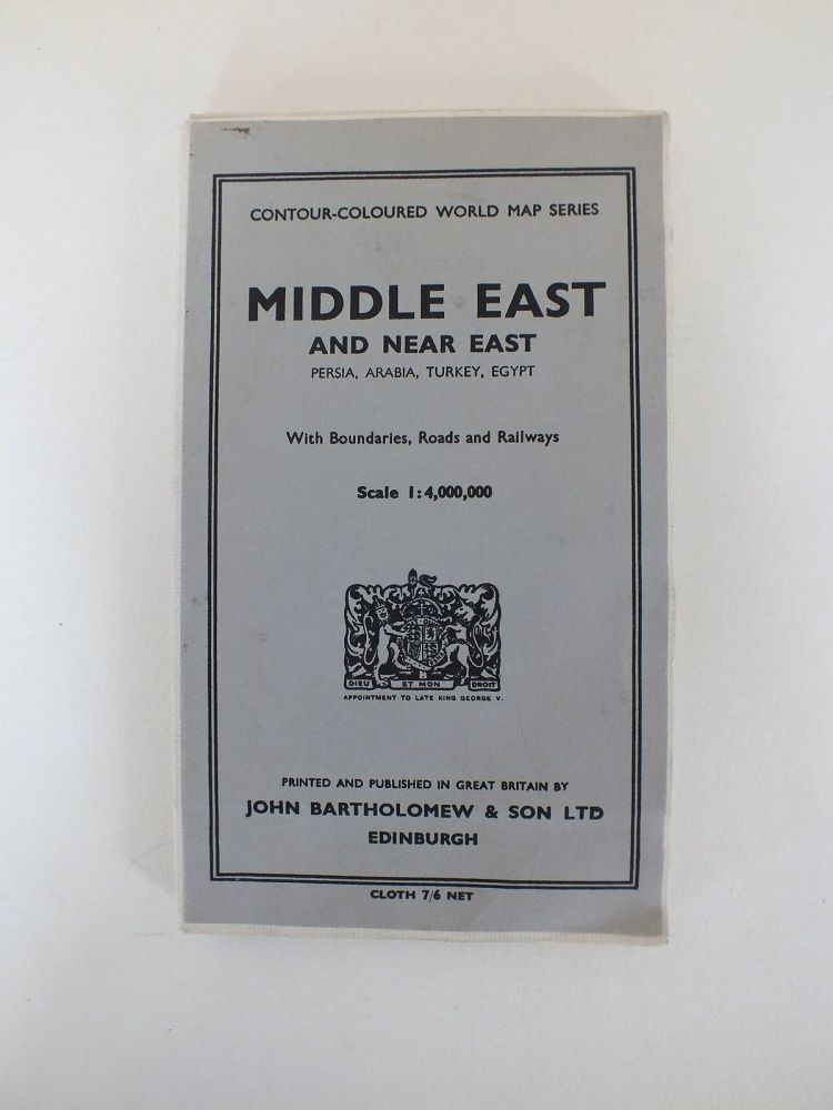Bartholomews Middle East And Near East Map. Scale 1:4,000,000 (Revised 1958)