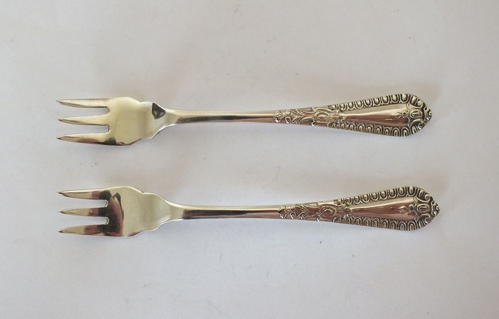 Antique Silverplate Condiment Forks