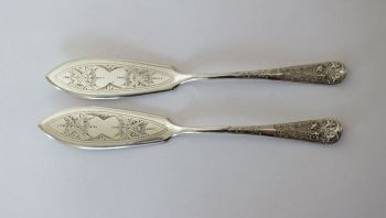Edwardian Silver Plate Butter Knives