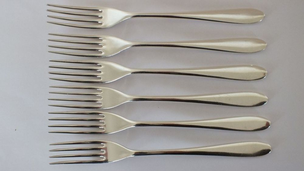 Walker & Hall Cutlery, PRIDE Pattern Dessert Forks, 7