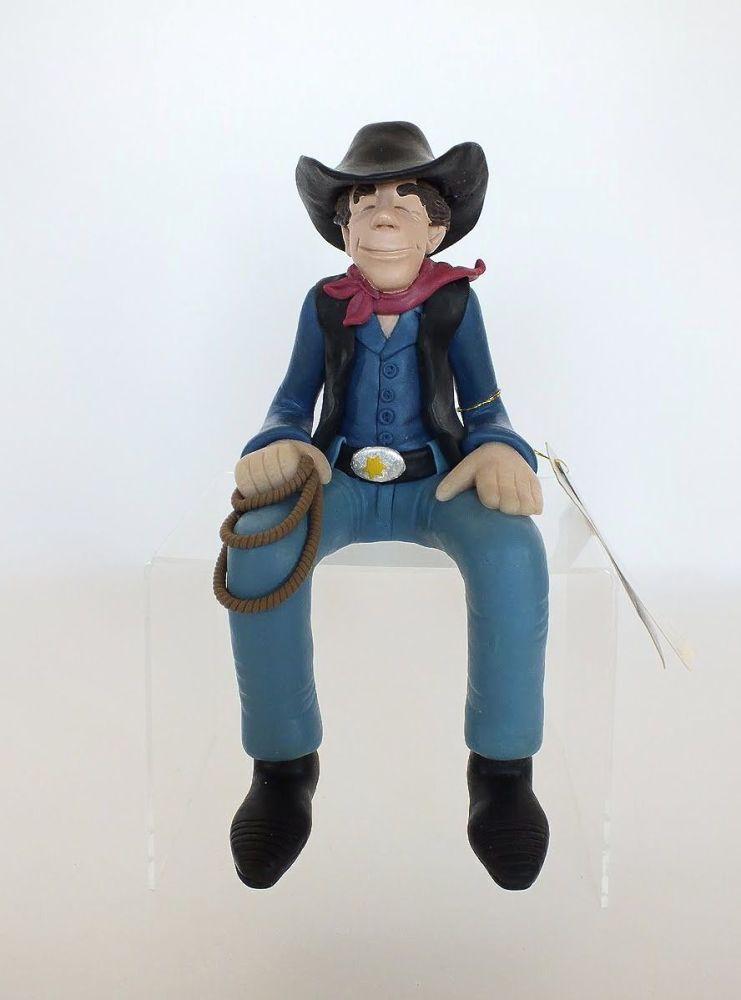 Diana Manning Cowboy Shelf Sitter Figurine, Signed Limited Edition