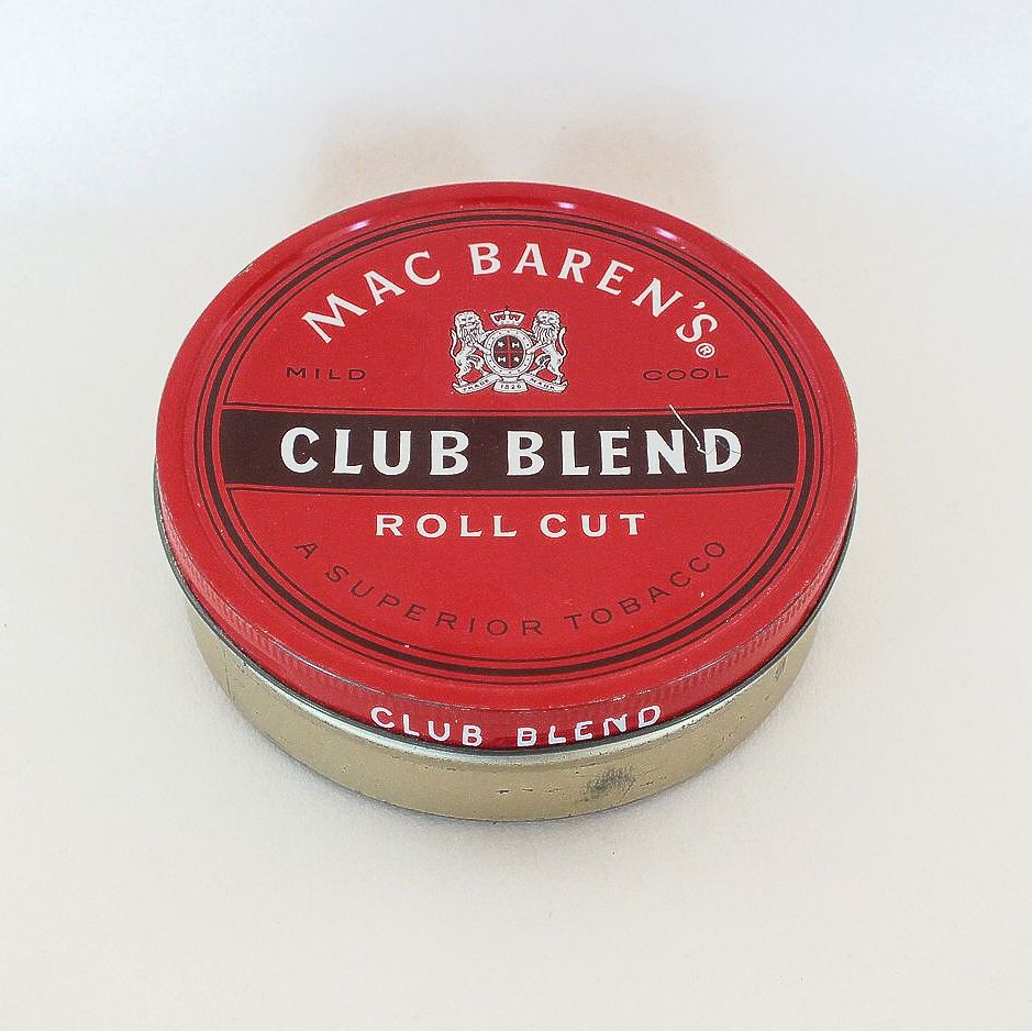 Mac Barens Club Blend Roll Cut Tobacco Tin