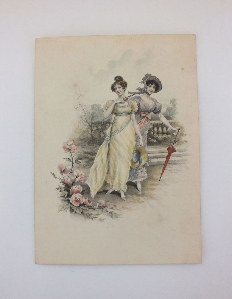 Early 1800s Colour Tinted Fashion Print