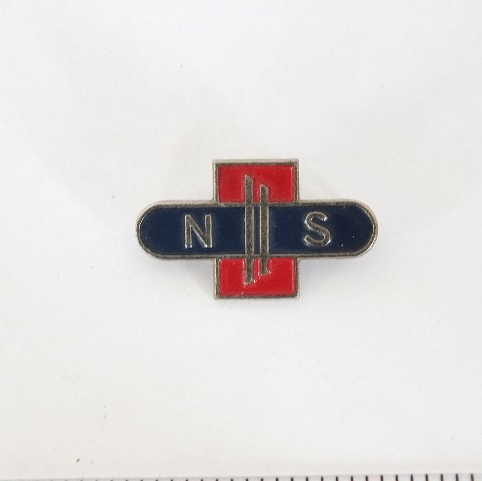 Nederlandse Spoorwegen, Dutch Railways Lapel Pin Badge, c1960s