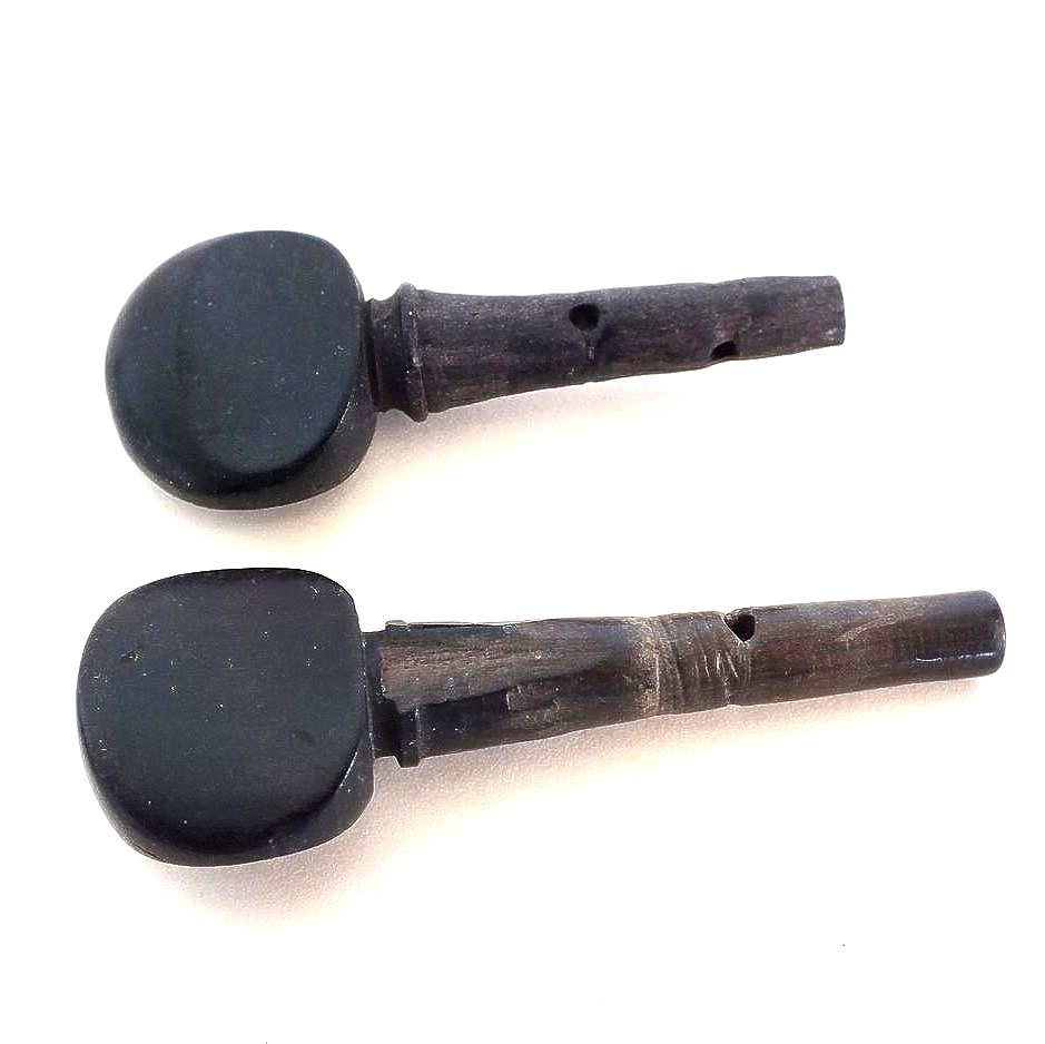 Tuning Keys For Musical Instruments, Ebonised Wood, x2