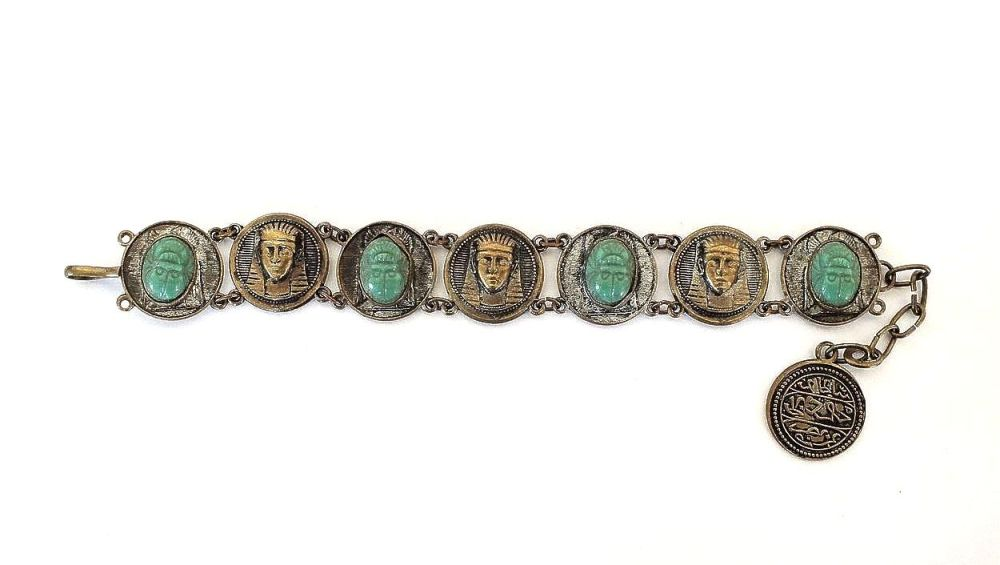 Egyptian Revival Souvenir Bracelet Circa 1930s