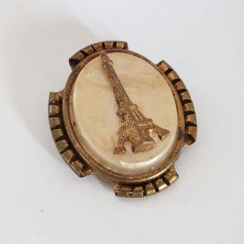 Vintage Pin Brooch Eiffel Tower Souvenir Of Paris