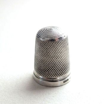 Hallmarked Sterling Silver Sewing Thimble By Griffith, Size 15