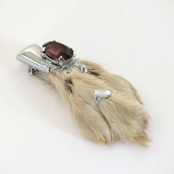 Scottish Lucky Rabbit Foot Brooch, Kilt Pin