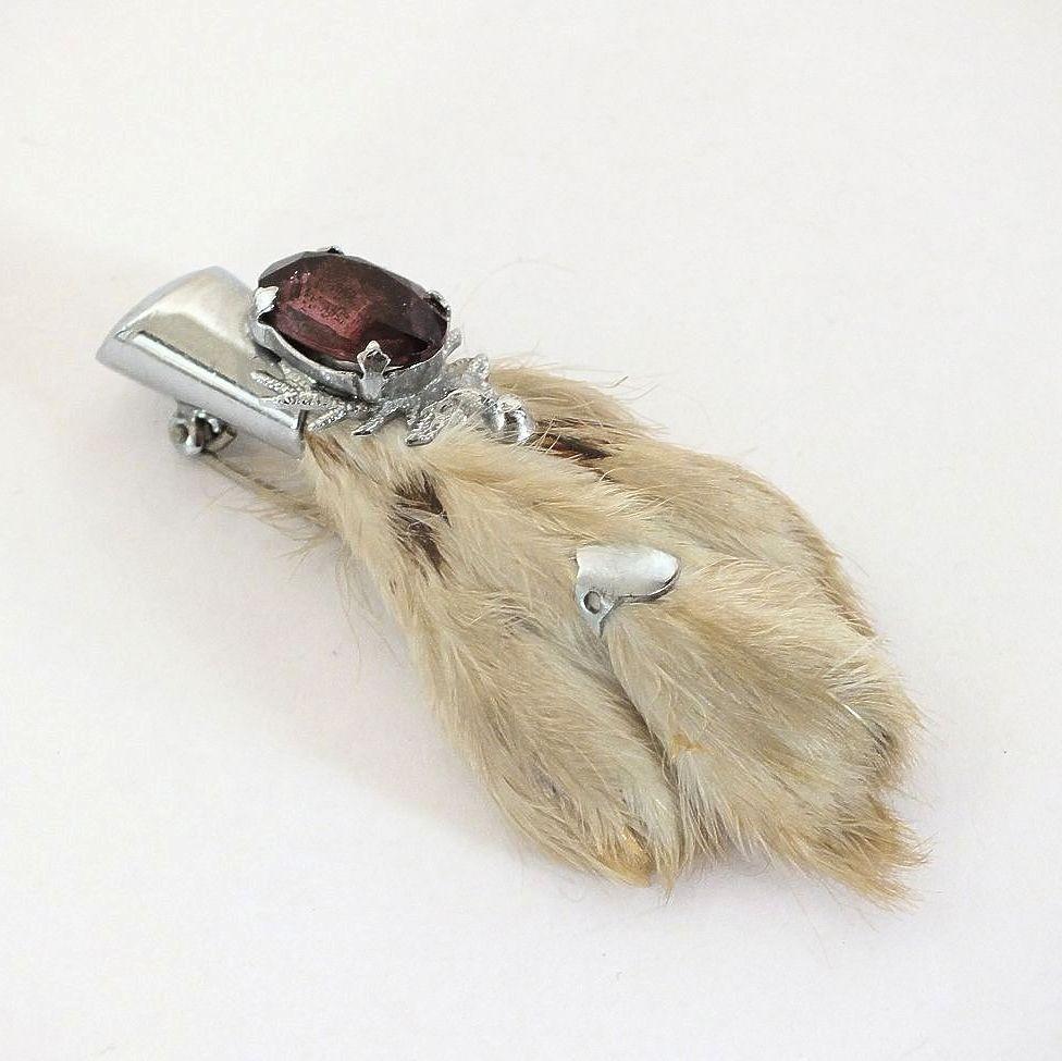 Scottish Lucky Rabbit Foot Brooch, Kilt Pin