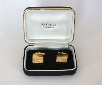 Mens Goldtone Cufflinks, Boxed