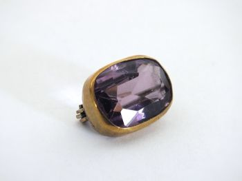 Victorian Gilt & Amethyst Coloured Choker, Stock Pin Brooch