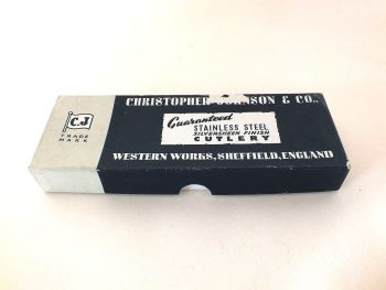 Christopher Johnson & Co Stainless Silversheen Finish Dessert Knives, Set Of 6, Boxed  (Lot 1)