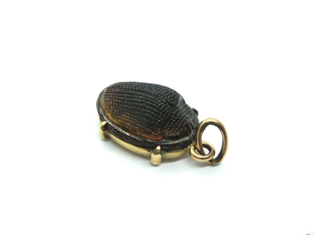 Scarab Beetle Necklace Pendant, Bracelet Charm