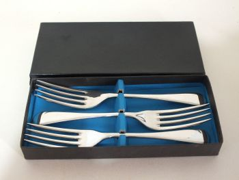 "Viners Sheffield 6.50"" Fish Forks, (Lot #2)"