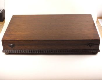 Vintage Wooden Box, Cutlery Box. Circa 1930s, 1940s